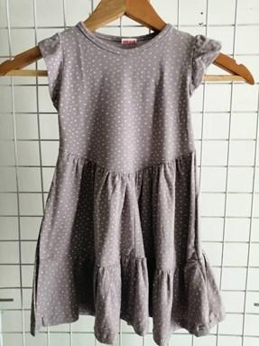 Princess Dress V2 : GREY DOTTIES, size 4-6