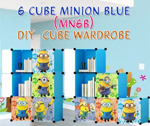 Minion BLUE 6C DIY WARDROBE (MN6B)