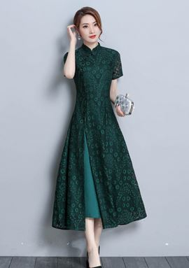Lace Retro Cheongsam Dress
