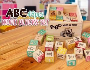 ABC 48PCS WOOD BLOCK SET