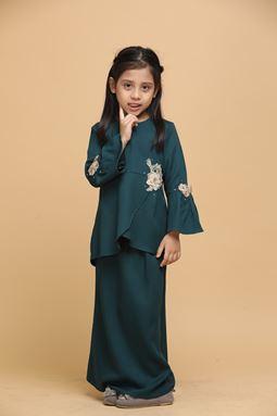 DAHLIA - PEACOCK GREEN (KIDS)
