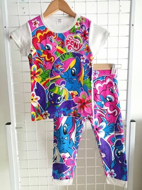 Pyjamas  Short Sleeve LITTLE PONY FLORA Grey (Kids 2yr )