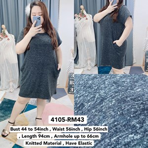 4105 * Ready Stock * Bust 44 to 54inch / 112 - 137cm