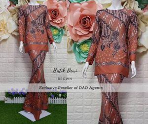 Kurung Batik Dewi Brown