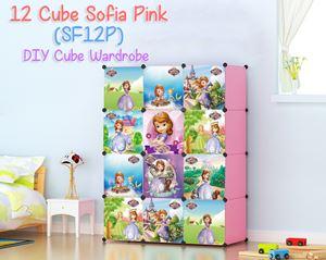 SOFIA PINK 12C DIY WARDROBE (SF12P)