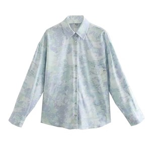 BLUE ABSTRACT PRINTS TOP