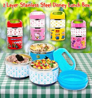 2 Layer Stainless Steel Disney Lunch Box
