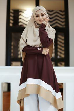 BLOUSE NAURA - BROWN