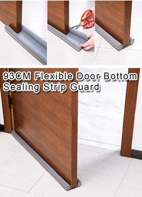 93CM Flexible Door Bottom Sealing Strip Guard Sealer Stopper Door Weatherstrip Guard Wind Dust Blocker Sealer Stopper