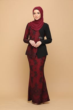 DEWI BLACK / BURGUNDY RED (ADULT)