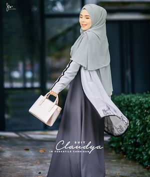 CLAUDYA SUIT IN VERSATILE CARDIGAN 02 (MISTY GREY)