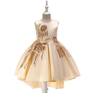 @  T5035 Girls Sequins Princess DresS - CHAMPAGNE ( SZ 100-150 )