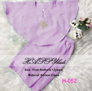 Baju Kurung Batwing - Light Purple