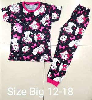 Pyjamas MARIE CAT BONJOUR  :  BIG Size 12 -18