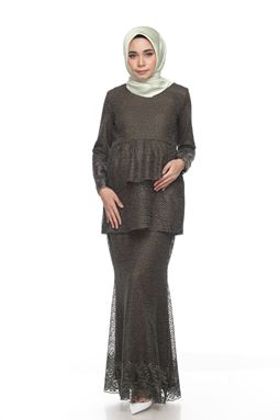 Sri Mellur Kurung Exclusive - Seaweed Green