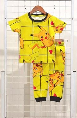 BABY 6M Pyjamas PIKACHU LOVE YELLOW (HELAL)