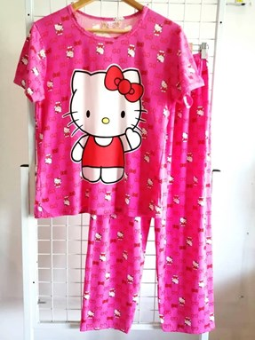 Pyjamas Dewasa Pink Hello Kitty Small Gucci