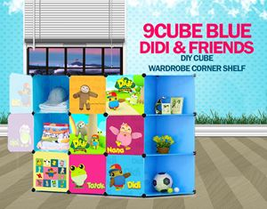 Didi & Friends Blue 9C DIY Cube w Corner Rack (DD9CB)
