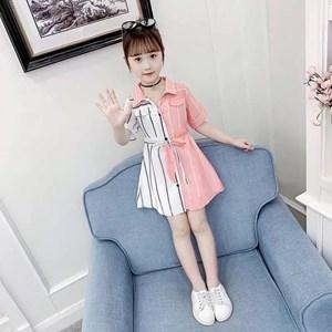 PINK WHITE GIRL DRESS  ( SIZE  110 - 160 )