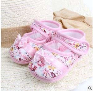 BABY FLOWER PINK PRE WALKED SHOES
