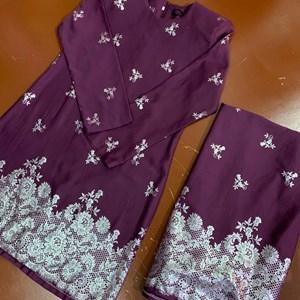 Kurung Seroja (Purple)