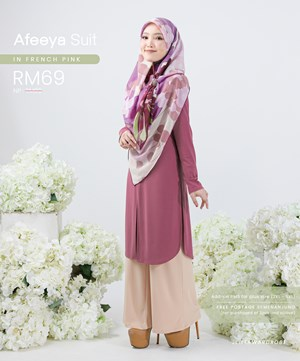 AFEEYA SUIT IN FRENCH PINK
