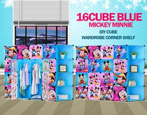Mickey Minnie Blue 16C DIY Cube w Corner Rack (MC16CB)