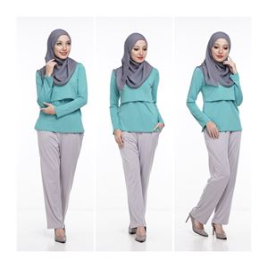 Casual Pant - LIGHT GREY - (Maternity Friendly)