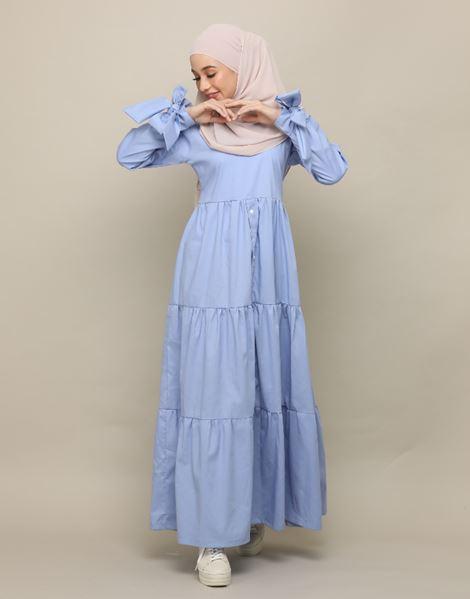 EREEN DRESS IN DUSTY BLUE