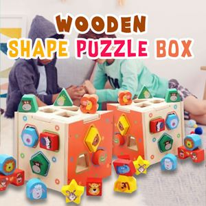WOODEN SHAPE PUZZLE BLOCK