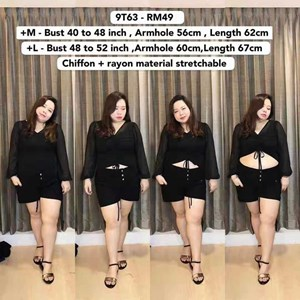 9T63 *Ready Stock *Bust 40 to 48 inch/ 101-122cm