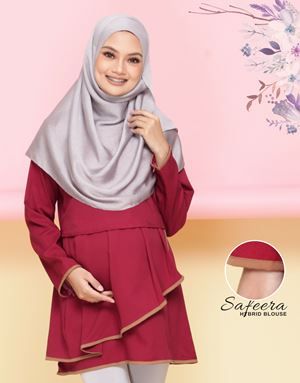 Safeera Blouse - Maroon(Sandy Brown)