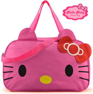 HELLO KITTY TRAVELING BAG ( DARK PINK ).