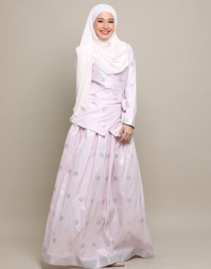 CHEMPAKA SONGKET IN SOFT PINK