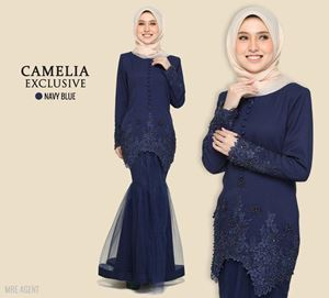 KURUNG CAMELIA EXCLUSIVE NAVY BLUE