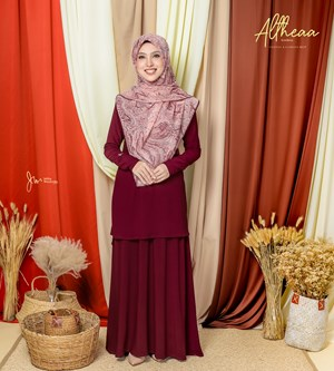 ALTHEA IRONLESS SUIT IN ROSE MAROON
