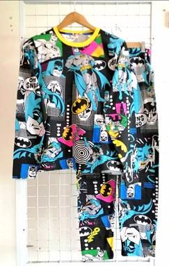 Pyjamas BATMAN RETURN BLACK : Size DEWASA M - 4XL (GL)