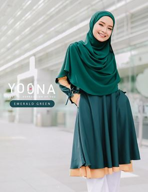 YOONA BEAUTY BLOUSE - EMERALD GREEN