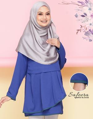 Safeera Blouse - Royale Blue(Dark Teal)