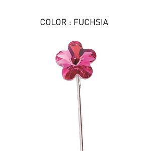 Pin 3D Flower Luxe Fuchsia