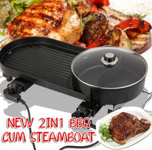 NEW 2IN1 BBQ CUM STEAMBOAT