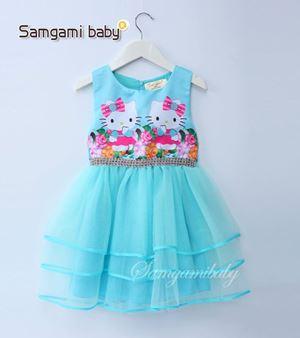 @  SAMGAMI DRESS 010 - KITTY BLUE TUTU. ( SZ 100-140 )
