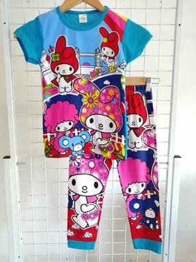 Pyjamas  Short Sleeve MY MELODY IN FARM Blue (Kids 2 -8)