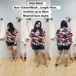 3925 Ready Stock *Bust 48 inch/ 123cm