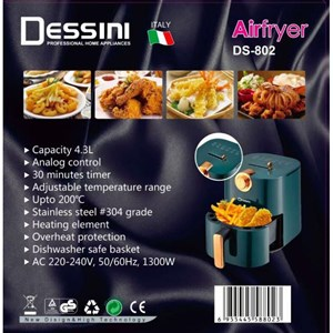 DESSINI AIR FRYER 4.3L Malaysia Plug Healthy Lifestyle Timer and Temperature Adjustable