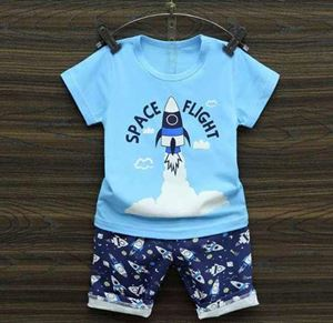 HAPPYKIDS  KIDS SET ( BLUE ROCKET ) SIZE 55 - 80
