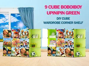 Upin Ipin Green 9C DIY Cube w Corner Rack (BB9CG)