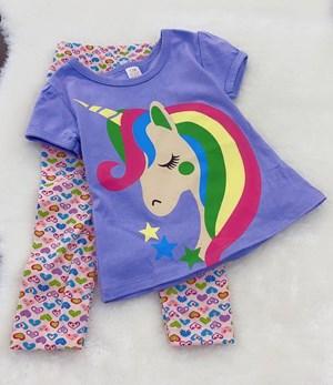 Girl Set Purple Unicorn With Pant (2y - 4y)