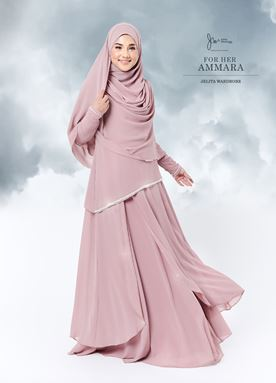 Jubah Ammara For Her (Baby Pink)
