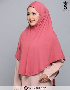 SALMON RED HIJAB